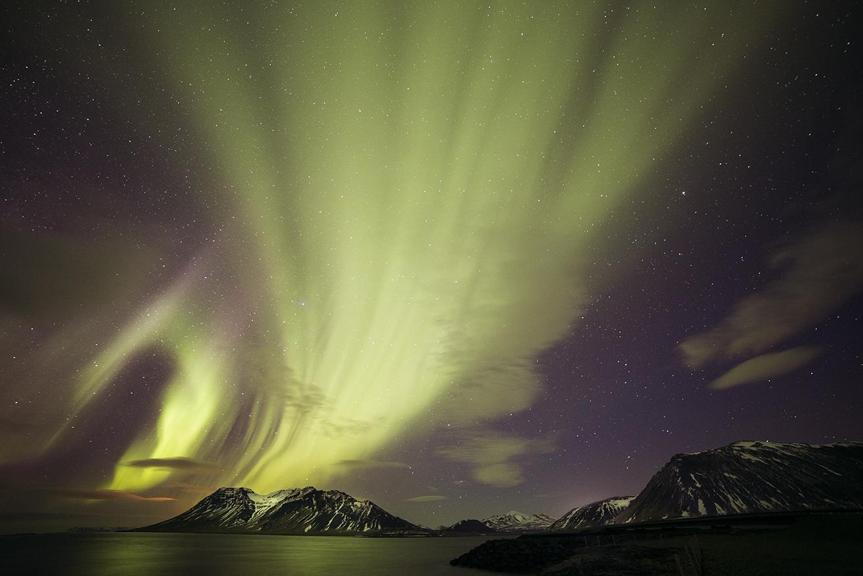 Aurora boreal desde Grundarfjordur